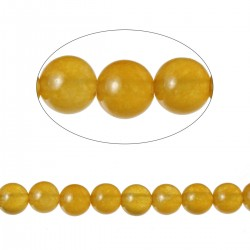 Lot 90 Perles Agate ronde Jaune 4mm -SC71589-