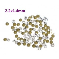 1440 Strass Coniques SS7 Blanc transparent 2.2*1.4mm -DIV001-