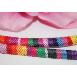 5m Cordon Coton 6mm Ethnique multicolore -SC59870-